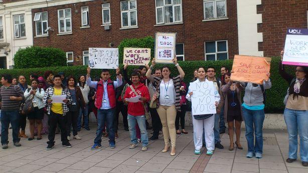 Lambeth College ESOL protest